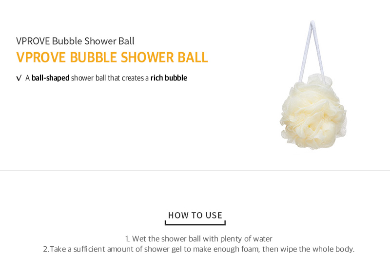 VPROVE Bubble Shower Ball