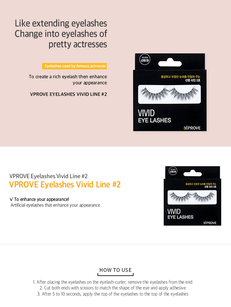 VPROVE Eye Lashes Vivid Line #2