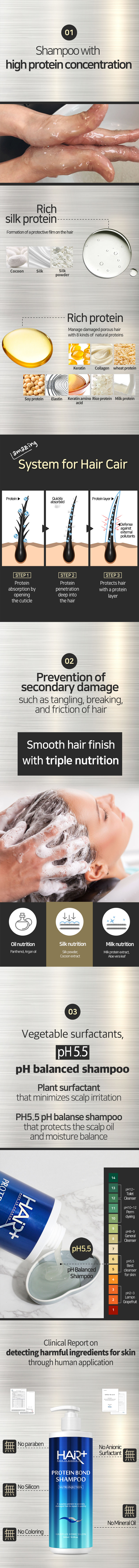 Hair Plus Protein Bond Shampoo 02